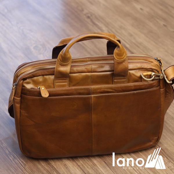 Cặp da công sở Lano cao cấp đựng laptop 15inch CD61