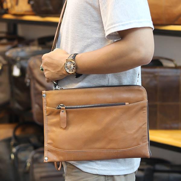 Túi cầm tay da bò Lano CLT14