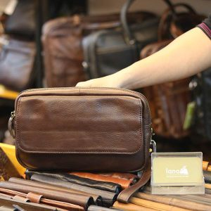 Túi cầm tay da bò phong cách mới CLT38