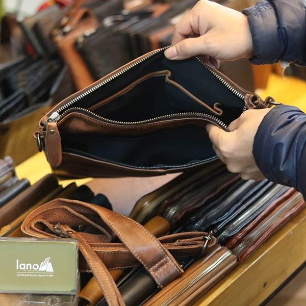 Túi cầm tay da bò thời trang Lano CLT16