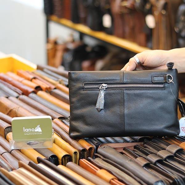 Túi cầm tay mini da bò Lano CLT18