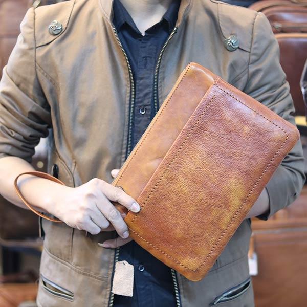 Túi da cầm tay Lano lịch lãm CLT12