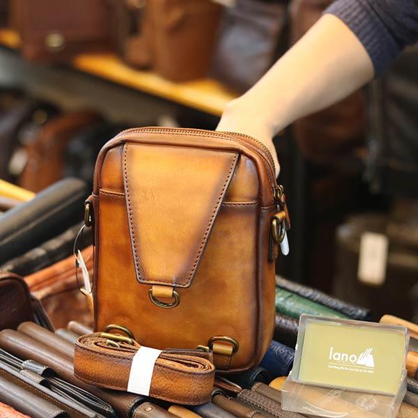 Túi da đeo chéo kết hợp đeo ngực TDL75