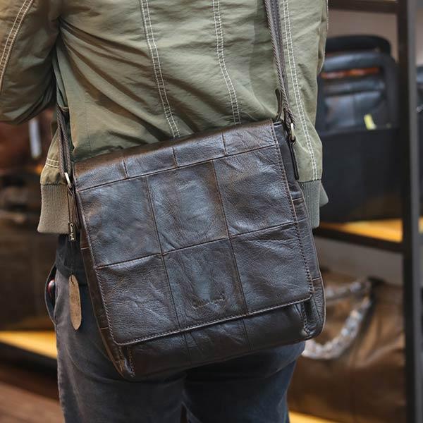 Túi da đeo chéo Lano da bò nắp đậy KT136