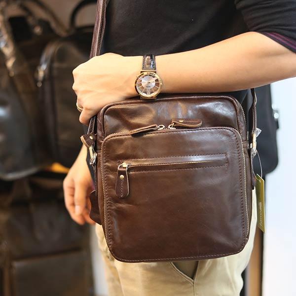 Túi da đeo chéo Lano tiện lợi KT167