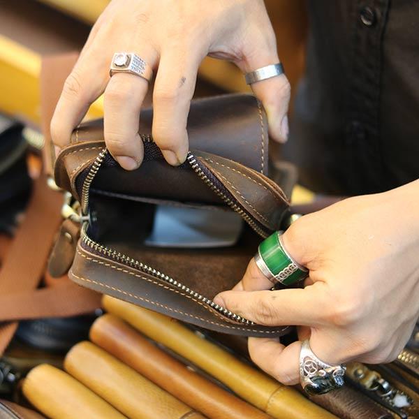 Túi da đeo chéo mini Lano KT147