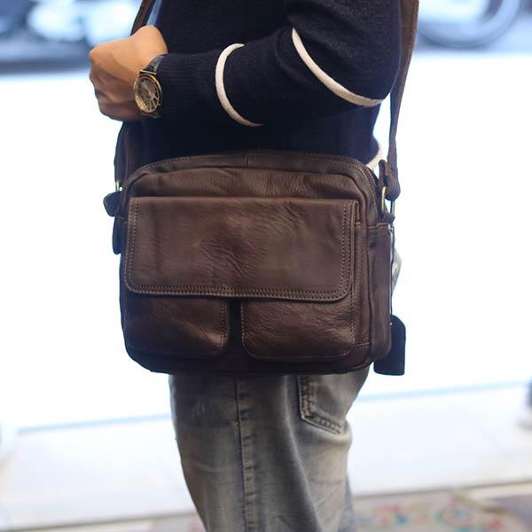 Túi da đeo chéo nam Lano KT88