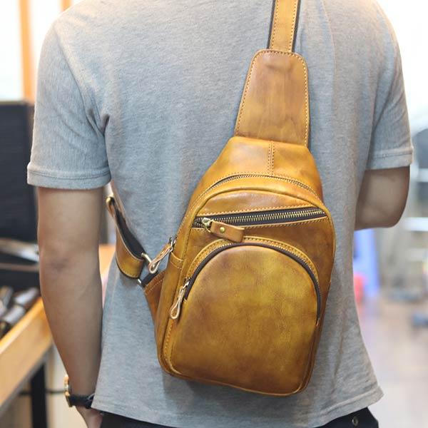 Túi da đeo chéo ngực Lano TDL66