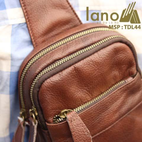 Túi da đeo chéo trước ngực Lano cao cấp TDL44