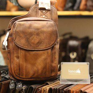 Túi da đeo lưng Lano thời trang TDL46