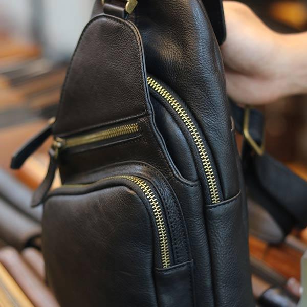 Túi da đeo ngực da bò nhập khẩu TDL58