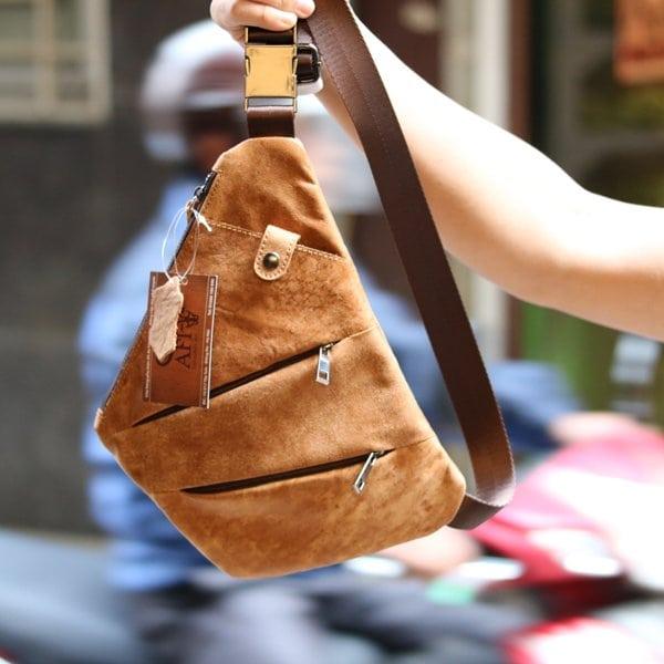 Túi da đeo ngực nam Lano độc đáo TDL25