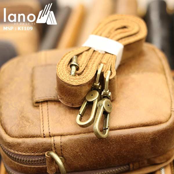 Túi da Lano đeo chéo nam nhỏ gọn KT109
