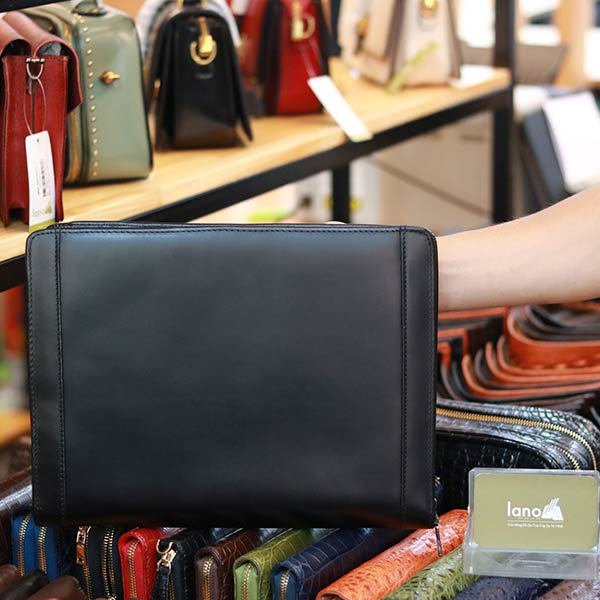 Túi da nam cầm tay Lano mẫu mới CLT26