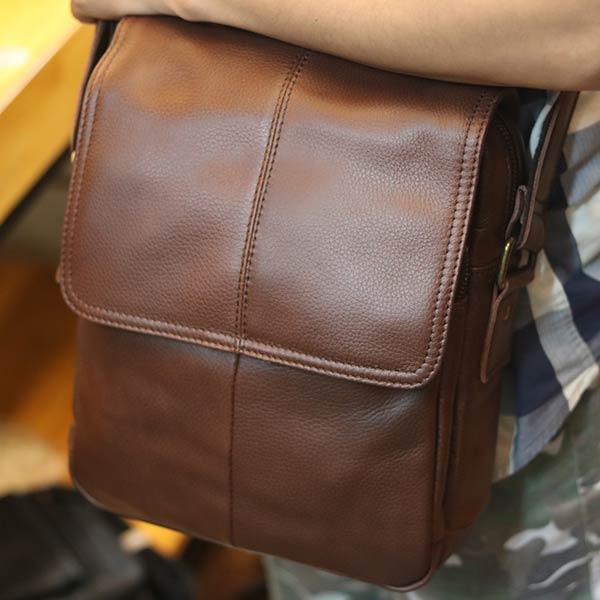 Túi da nam đeo chéo Lano lịch lãm KT104