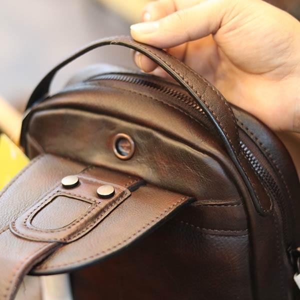 Túi da nam đeo ngực da bò đẹp độc lạ TDL73
