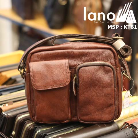 Túi đeo chéo Lano da bò bụi bặm KT81