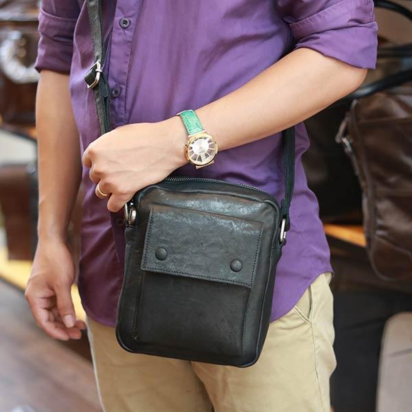 Túi đeo chéo mini cỡ nhỏ da thật Lano KT185