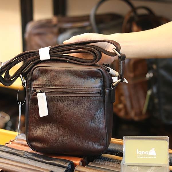 Túi đeo chéo mini da bò nhiều ngăn tiện lợi KT174