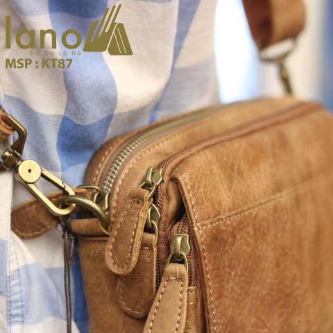 Túi đeo chéo nam Lano có đai thắt lưng KT87