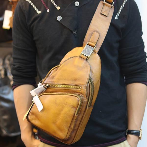 Túi đeo trước ngực da bò cao cấp TDL69