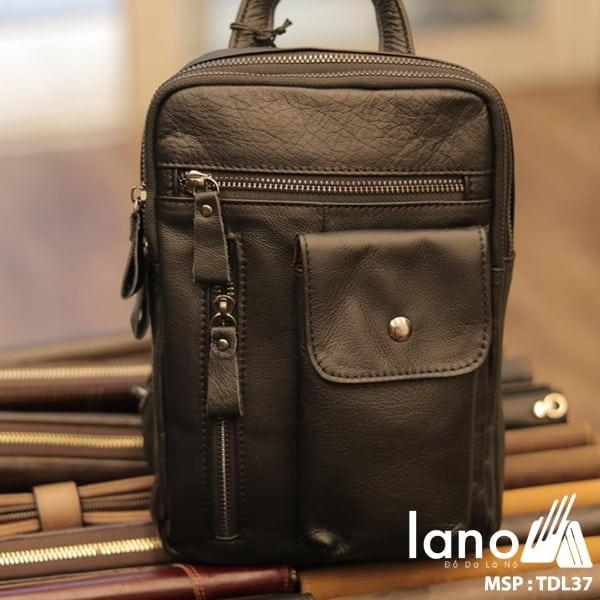Túi đeo trước ngực da bò thật 100% TDL37