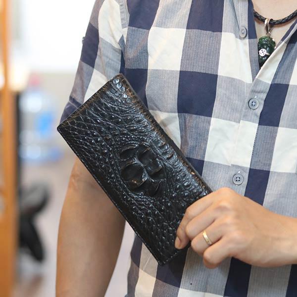 Ví da cầm tay 2 gấp 1 mặt thời trang VCSCT08