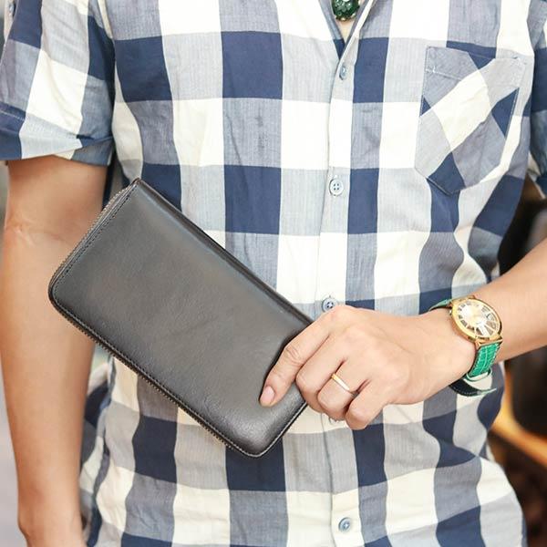 Ví da cầm tay thời trang Lano VCTN074