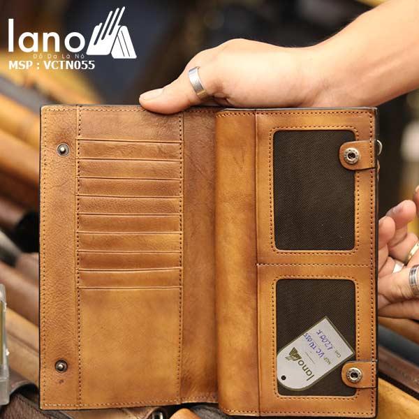 Ví dài cầm tay Lano da bò thời trang VCTN055
