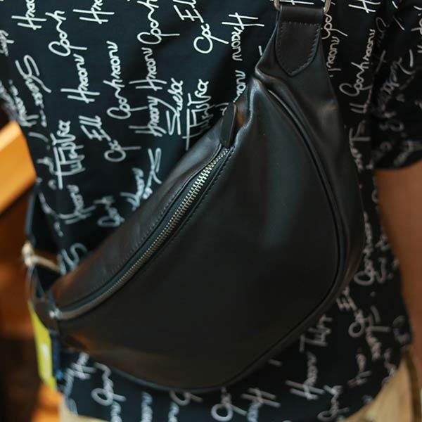 Túi da bao tử đeo chéo thời trang Lano TDB024