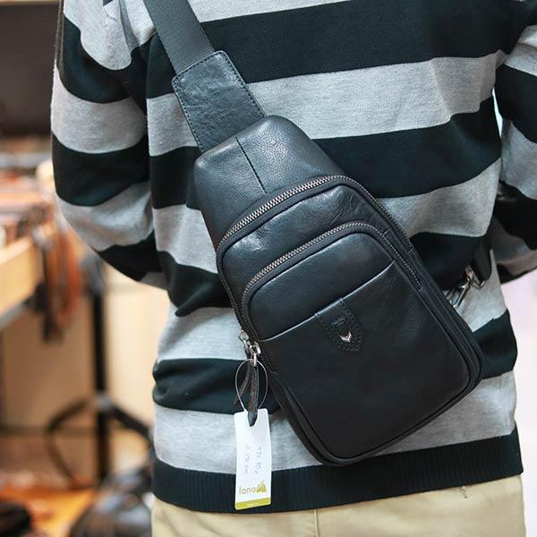 Túi đeo ngực da bò Lano nhỏ gọn TDL80
