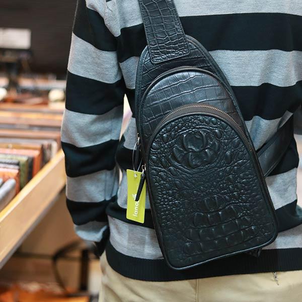 Túi đeo ngực vân cá sấu Lano TDL81